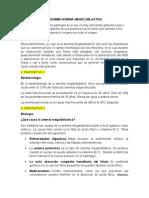 RESUMEN ANEMIA MEGALOBLASTICA . COMPLETO