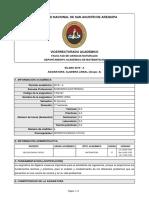 SILABO-437-ALGEBRA LINEAL (Grupo A-Año 2019-Ciclo A)