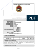 SILABO-437-ALGEBRA LINEAL (Grupo B-Año 2019-Ciclo A)