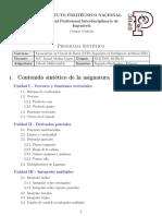 Cálculo Multivariable - Programa Sintético