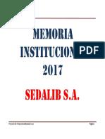 MEMORIA ANUAL SEDALIB 2017