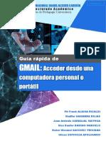 GUÍA RÁPIDA - GMAIL. Accediendo desde una computadora personal o portátil v1.0