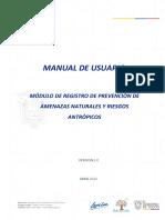 Manual - Registro de Prevencion de Amenazas Naturales y Riesgos Antropicos
