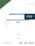 Manual - Registro de Prevencion de Salud