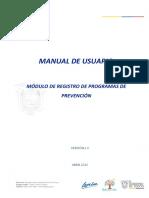 Manual - Registro de Programas de Prevencion (Drogas y Psicosocial)
