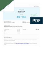 Comprovante Pagamento Sabesp 04-20