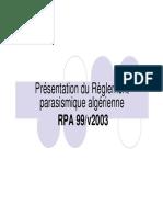 Ch3.1-Présentation du RPA-99 [Mode de compatibilité]