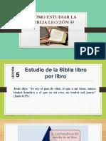 CÓMO ESTUDIAR LA BIBLIA LECCIÓN 5