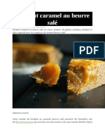 Fondant caramel au beurre salé