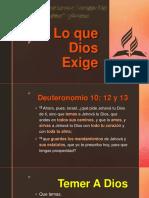 Sermon 13062020 Lo que Dios Exige