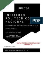 CAPACITOR DE PLACAS PLANAS Y PARALELAS