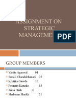 ASSIGNMENT ON STRATEGIC MANAGEMENT