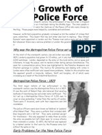 The Growth of the Police Force