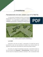 Parcelamento do solo urbano  -Lei n. 6.766-79 UCB6