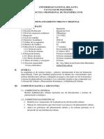 Sílabo Planeamiento Urbano y Regional 2020