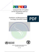 International Code of Conduct on the Distribution and Use of Pesticides 2008