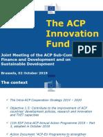 ACP Innovation Fund-ACP Committee-02102019