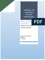 Qualitative and quantitative research methodologies