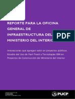 Reporte BIM Ministerio del Interior