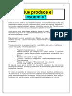 Qué Produce El Insomnio