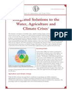 Envi-Integraded Solutions to the Water Agriculture and Climate Crises