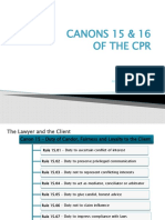 Canons 15 to 16 of the CPR