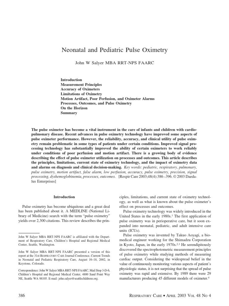 pulse oximeter | Clinical Medicine | Medicine