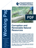 Envi-Corruption and Renewable Natural Resources