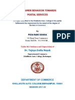 Consumer Behavior Towards Postal Services