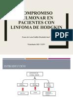 Compromiso pulmonar en pacientes con linfoma de hodgkin