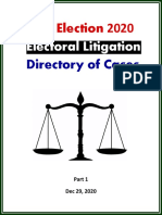 US Election 2020 - Directory of Lawsuits (Dec 2020)