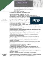 Basic 1L Legal Resume - Public Accesss