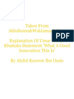 Explanation Of Umar Ibn al-Khattabs Statement 'What A GoodInnovation This Is'
