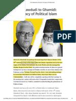 From Mawdudi to Ghamidi_ the Legacy of Political Islam
