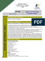 ingénierie en métrologie industrielle pratique