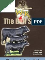 Whitestone-Krebs Bull Sale Catalog 2011
