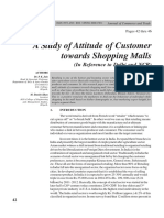 A study of attitude of customer towards shopping malls