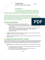 Starbucks CPG Overview Fact Sheet