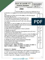Devoir de Contrôle N°2 - Sciences physiques - 2ème Sciences (2013-2014) Mr K.Atef 1.pdf