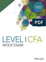 DA4387 Level I CFA Mock Exam 2018 Morning A