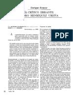 Pedro Henríquez Ureña el critico errante - Krauze