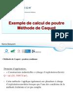 CMTD-Dimensionnement des poutres-Caquot