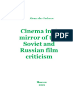 Fedorov, Alexander. Cinema in the Mirror of the Soviet and Russian Film Criticism. Moscow