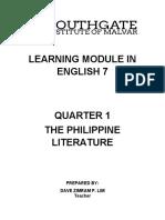 Grade 07 Module Quarter 01