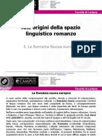alle origini della spazio linguistico romanzo 2