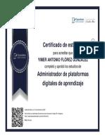 DIPLOMA  Administrador de plataformas digitales