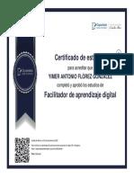 DIPLOMA  FACILITADOR DE APRENDIZAJE DIGITAL