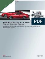 617 - Audi RS 5 2010 y RS 4 Avant 2013 Transmisión de Fuerza