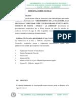 ESPECIFICACIONES TECNICAS CUYUCHUGO