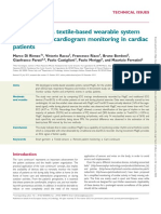 13 Evaluation of a Textile-based Wearable System for the Electrocardiogram Monitoring in Cardiac Patients.
